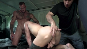 FamilyDick.com - Teacher Kenny Cox rough tied up in van