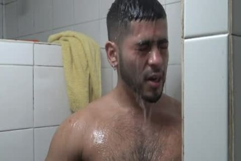 Hung Latino slammed In Gym Shower