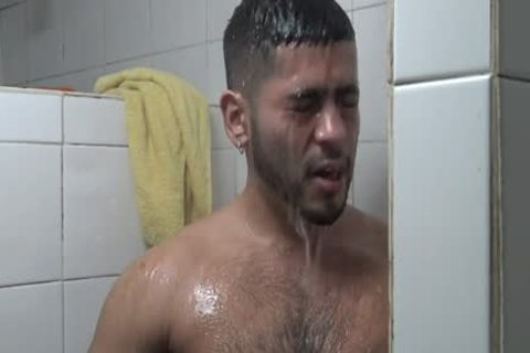 Hung Latino fucked In Gym Shower