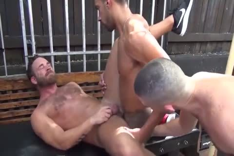 MusclePup Logan Moore Acquires gang poked Barebacked nail