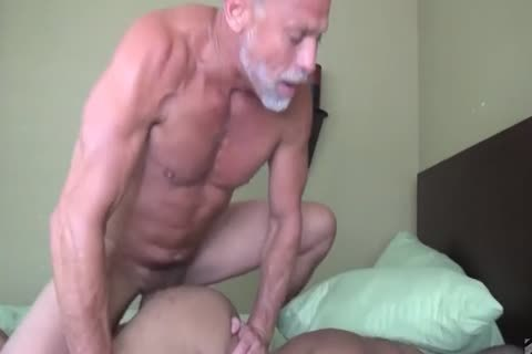 old man bonks His Muscled dark Toyboy