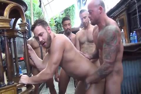 MusclePup Logan Moore gets bunch gangbanged Barebacked pound