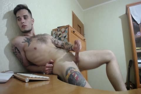 nasty 23yo Tattooed College twink George discharges A good Load