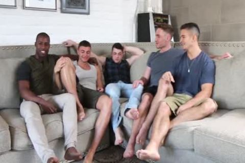 Hottest youthful boyz! homo 5-Some fuckfest! All those youthful guys So desirous To fuck Each Other!