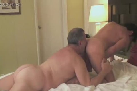 Daddy Bear With Younger In sleazy Tub And Beyond