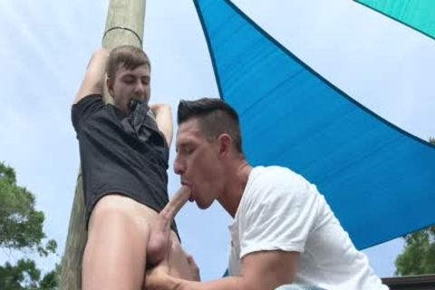 Nephew gets tied Up And slammed By Step-Uncle