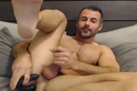 Full Show: yummy Straight Daddy Eats His Creamy Load