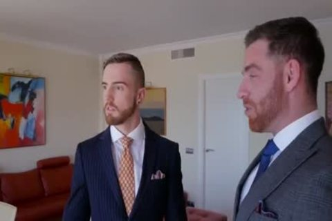 gay Suit fellatio-service And ass