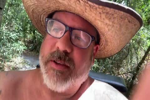 Cowboy Daddy Chub discharges A massive Load