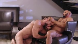 NoirMale.com: Muscled Dillon Diaz tongue kissing blowjob cum
