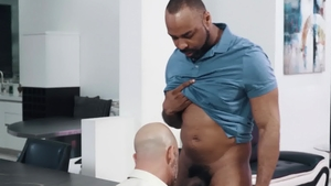Noir Male - Ray Diesel sex with hairy Adam Russo in office