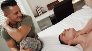 Str8ToGay: Dacotah Red and Jesse Avalon face fuck in the bed