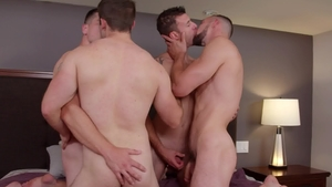Next Door Buddies: College guy Johnny B bareback rimming