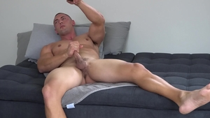 NextDoorCasting - Muscled Brodie Daniels touches uncut cock