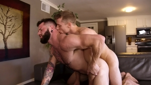 Next Door Studios: European Johnny Hill jerking huge dick