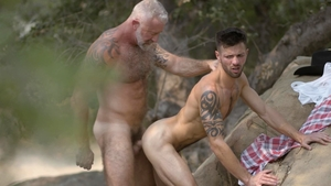 IconMale - Casey Everett plus Lance Charger spanking outdoors