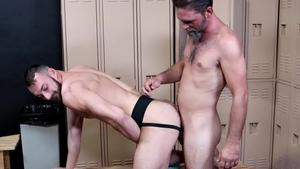 Extra Big Dicks: Johnny B jerking big penis