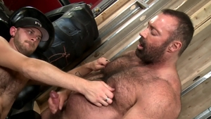 BearBack.com - Muscled CJ Parker wishes plowing hard