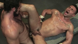 RagingStallion: Hairy Bruno Bernal masturbation