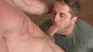 Falcon Studios: Stroking with Pierce Paris beside Wesley Woods