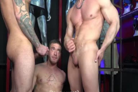 three-some Scene In A gay Store - The Making Of Boner