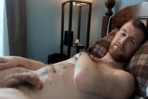hairy daddy man Caressing His knob In web camera