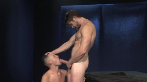 Raging Stallion: Colby Keller with Levi Madison jack off