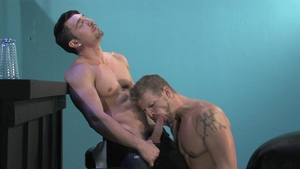 Raging Stallion: Thick Jeremy Stevens & Jimmy Durano hard spit