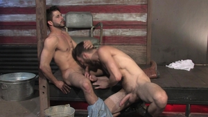 RagingStallion - Ray Han in boots with Tommy Defendi threeway