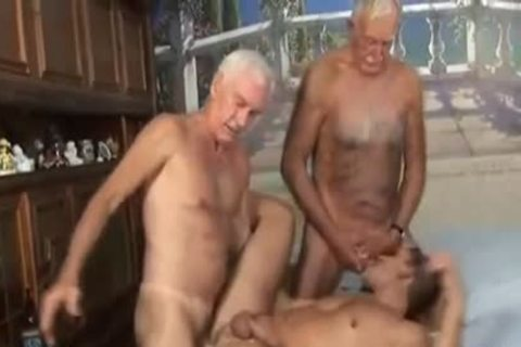 Two older man With fresh lad