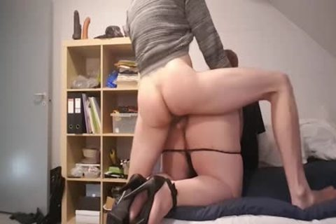 bulky Sissy In Heels Deepthroats previous to Getting boned Hard