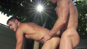 FalconStudios - Hard nailed rough with tight Zac Snow outdoors